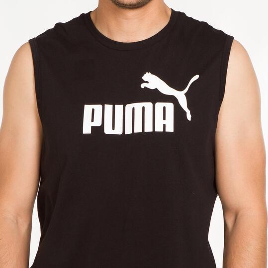 PUMA ESS Camiseta Sin Mangas Negra Hombre