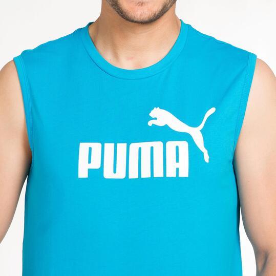 PUMA ESS Camiseta Sin Mangas Azul Hombre