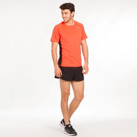 PUMA Camiseta Running Naranja Hombre