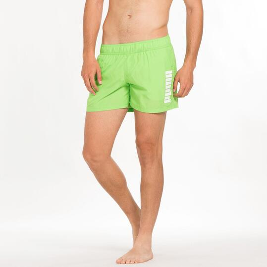 PUMA LOGO Bañador Corto Verde Hombre
