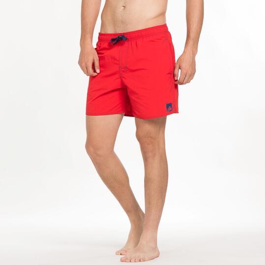 ADIDAS SOLID Bañador Corto Playa Rojo Hombre
