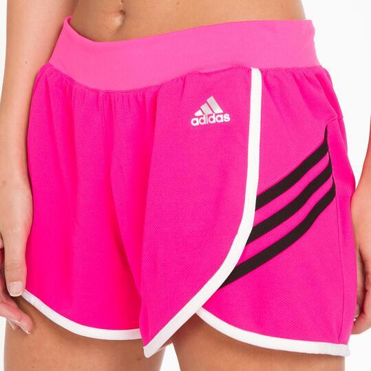ADIDAS Pantalones Cortos Fucsia Mujer