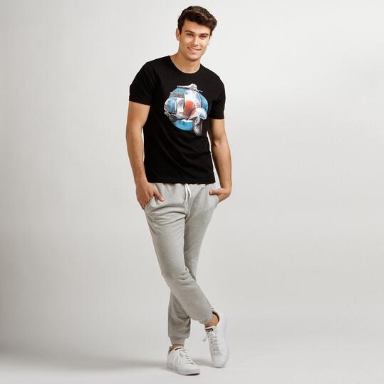 Camiseta Manga Corta TRUNK&ROOTS Negro Hombre
