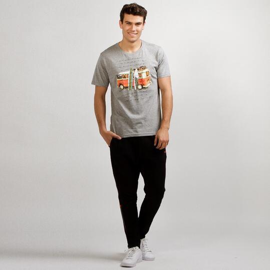 Camiseta Manga Corta TRUNK&ROOTS Gris Hombre