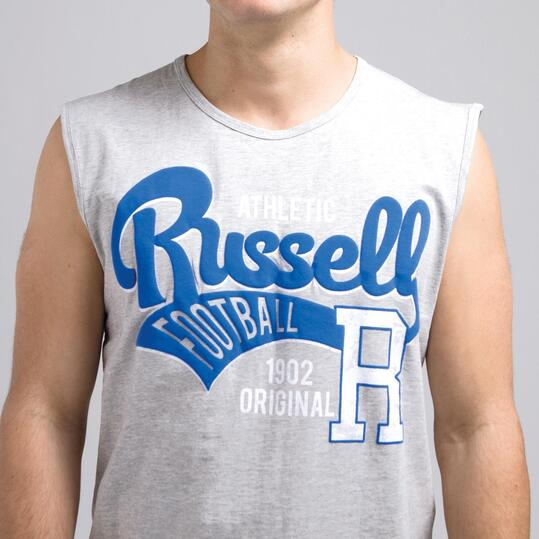 Camiseta Sin Mangas Corta RUSSELL Gris Hombre
