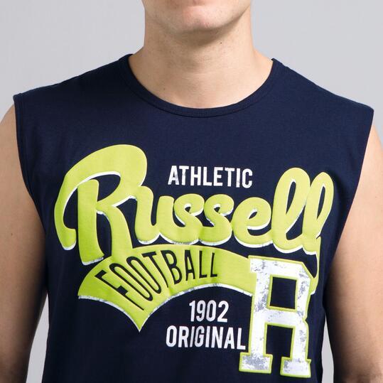 Camiseta Sin Mangas RUSSELL Marino Hombre