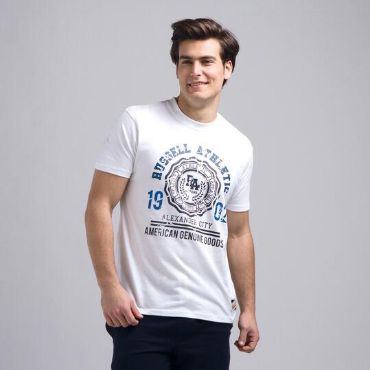 Camiseta Manga Corta RUSSELL Blanco Hombre