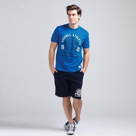 Camiseta Manga Corta RUSSELL Azul Hombre