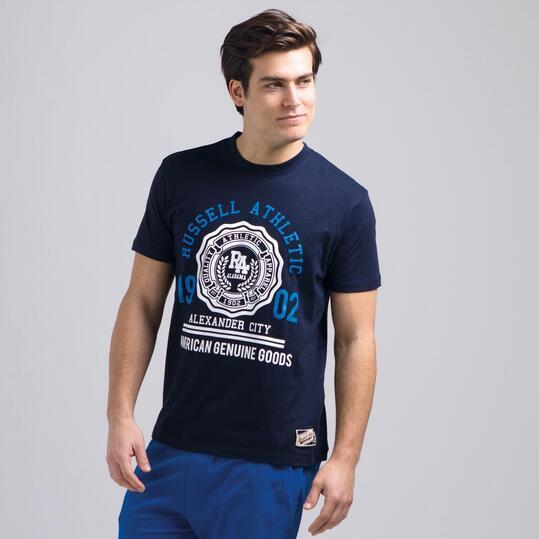 Camiseta Manga Corta RUSSELL Marino Hombre