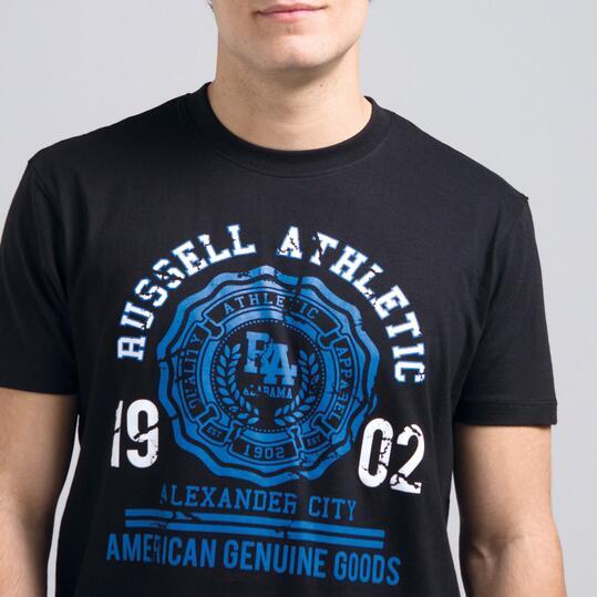 Camiseta Manga Corta RUSSELL Negro Hombre