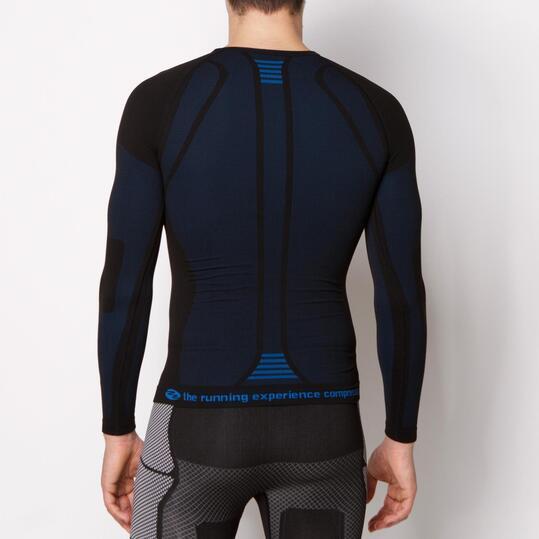 Camiseta Compresión IPSO Negro Unisex Negro Azul