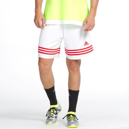 ADIDAS Pantalón Corto Fútbol Hombre Blanco