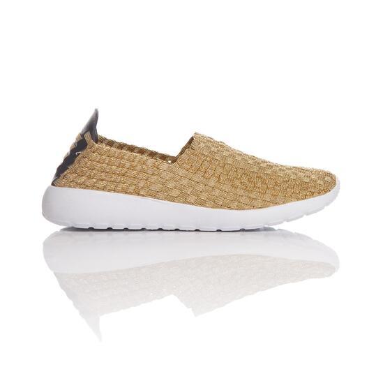 Sneakers Trenzadas SILVER SPLASH Dorado Mujer
