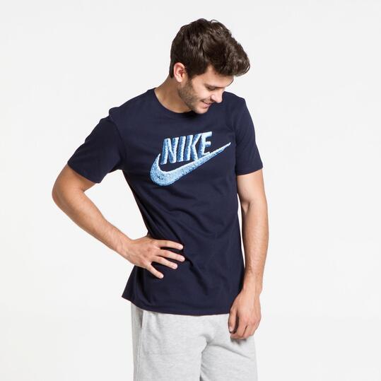 NIKE Camiseta Manga Corta Marino Hombre