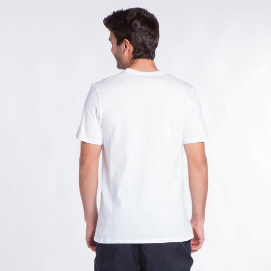 NIKE Camiseta Manga Corta Blanco Hombre