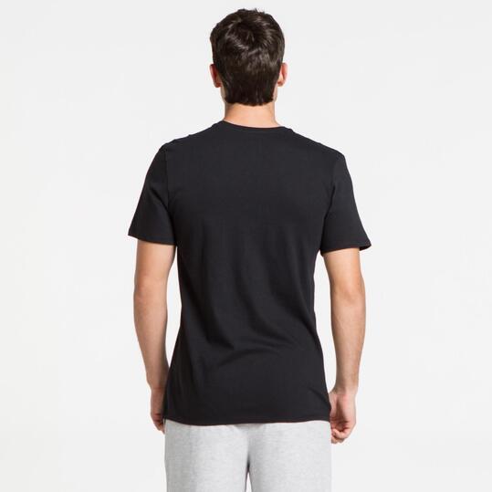 NIKE Camiseta Manga Corta Negro Hombre