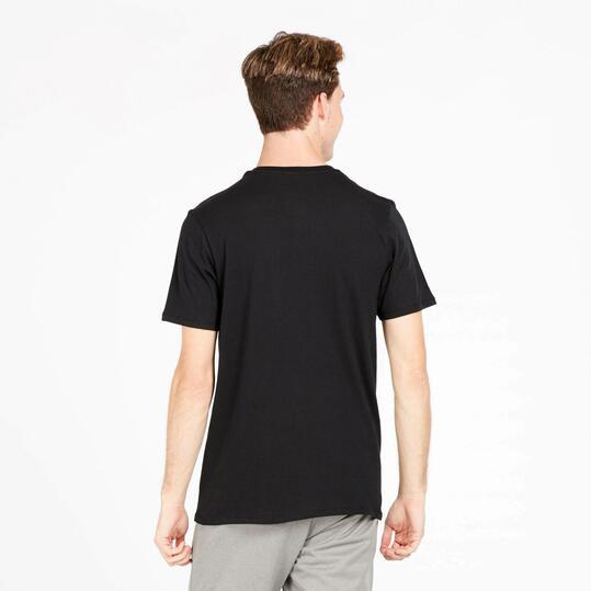 NIKE BEVEL Camiseta Manga Corta Negra Hombre