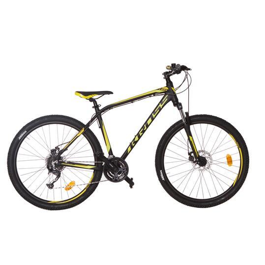 KROSS HEXAGON R5 Bicicleta Montaña Negro Amarillo