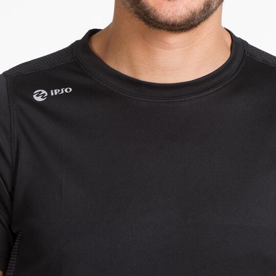 Camiseta Running IPSO NOCAUT Negro Hombre