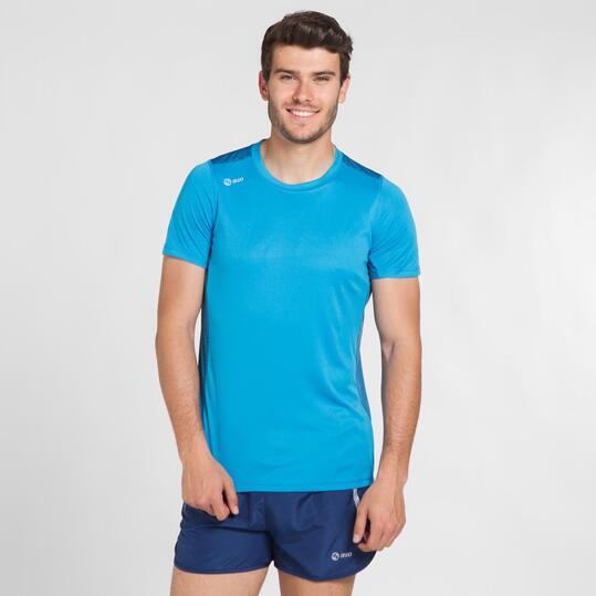 Camiseta Running IPSO Turquesa Hombre