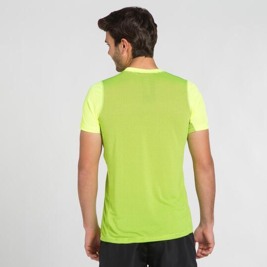 Camiseta Running IPSO Amarillo Flúor Hombre