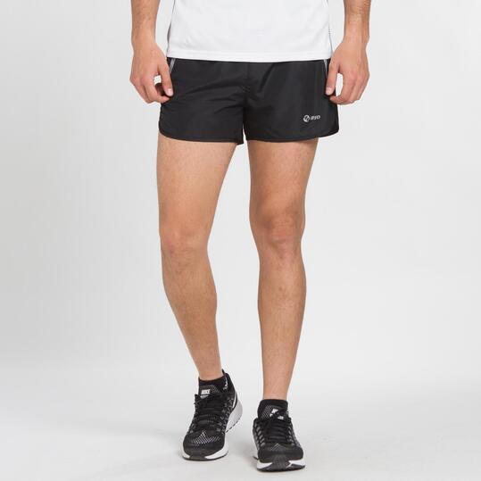 Pantalón Corto Running IPSO Negro Hombre