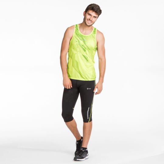 Camiseta Tirantes Running IPSO THUNDER Verde Hombre