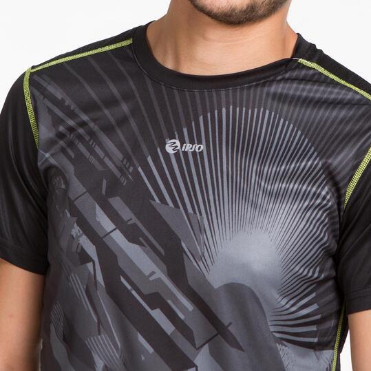 Camiseta Running IPSO THUNDER Negro Hombre