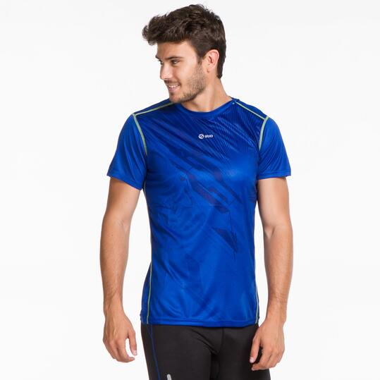 Camiseta Running IPSO THUNDER Azul Hombre