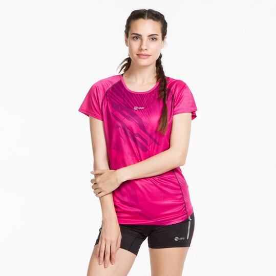 Camiseta Running IPSO THUNDER Fucsia Mujer