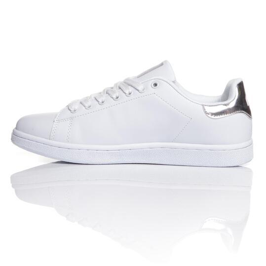 MISTRAL Zapatillas Casual Blancas Plata Hombre