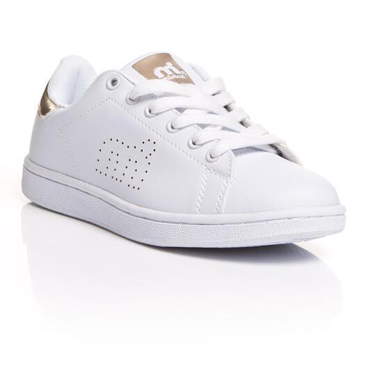 MISTRAL Zapatillas Casual Blancas Doradas Mujer