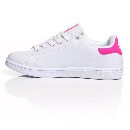 MISTRAL Zapatillas Casual Blancas Rosa Mujer
