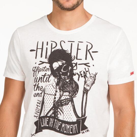 Camiseta Calavera SILVER Blanca Hombre