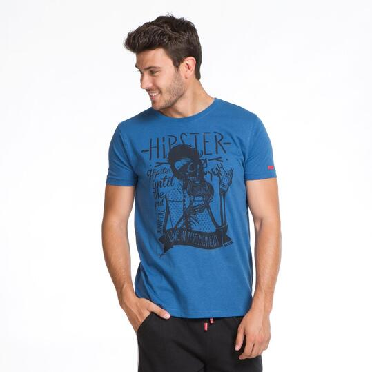 Camiseta Calavera SILVER Denim Hombre