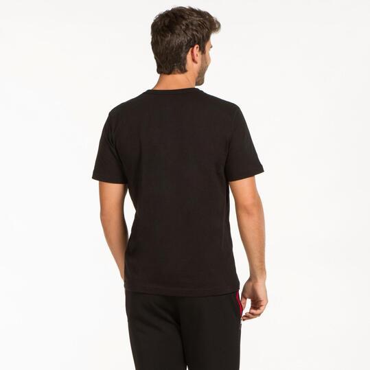 PUMA HERO LOGO Camiseta  Negra Hombre