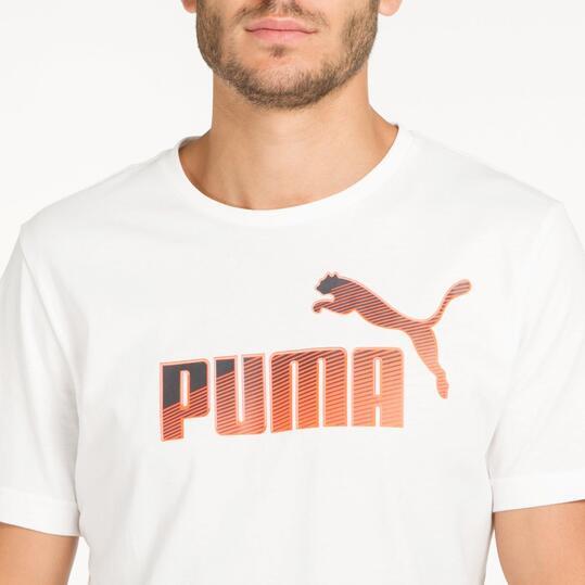 PUMA HERO LOGO Camiseta Blanca Hombre