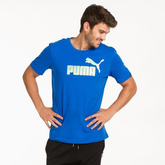 PUMA HERO LOGO Camiseta Azul Hombre