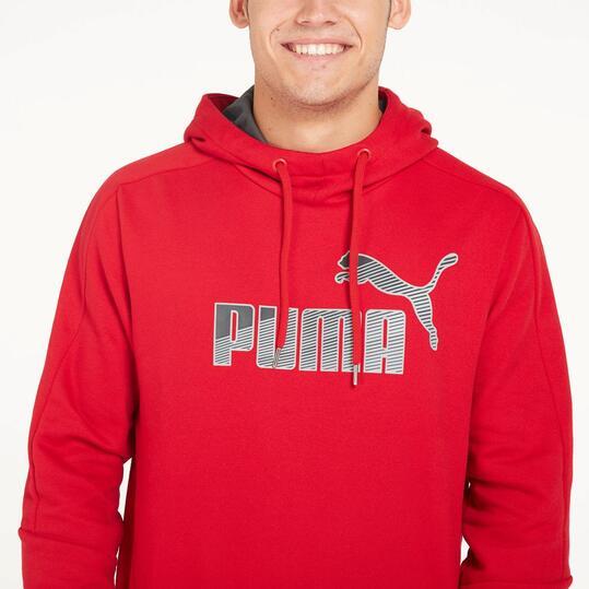 PUMA SPORTS Sudadera Capucha Rojo Hombre