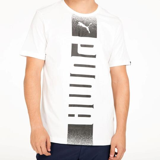 PUMA REBEL Camiseta Manga Corta Blanca Hombre