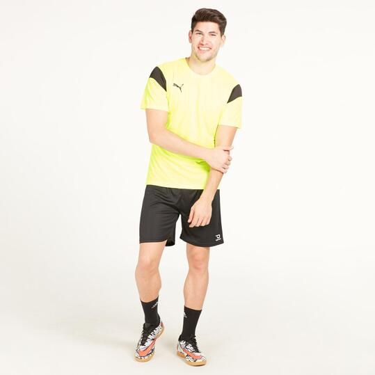 PUMA Camiseta Fútbol Amarillo Flúor Hombre