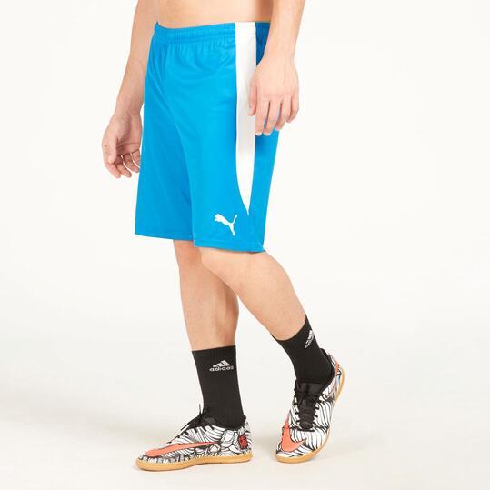PUMA Pantalón Corto Fútbol Azul Hombre