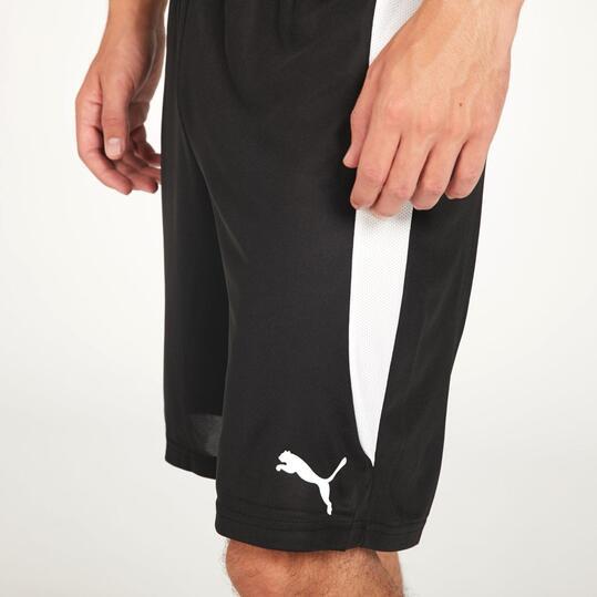 PUMA Pantalón Corto Fútbol Negro Hombre
