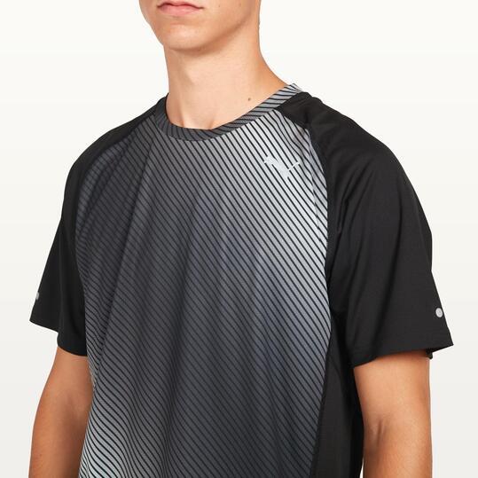 PUMA GRAPHIC Camiseta Running Negra Hombre