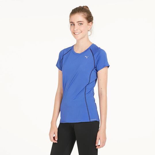 PUMA Camiseta Deporte Azul Mujer