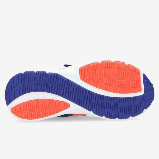 PUMA DESCENDANT Zapatillas Running Azul Naranja Velcros Niño (28-35)