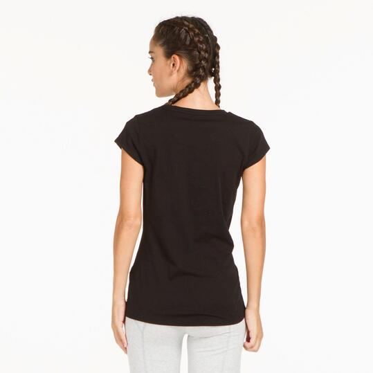 PUMA ELEMENTAL Camiseta Negra Mujer