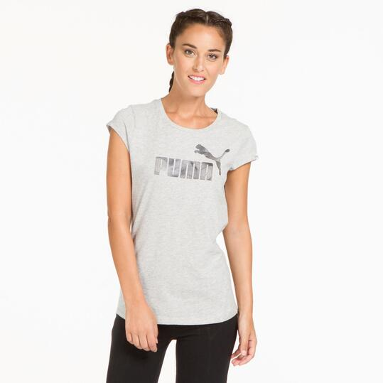 PUMA ELEMENTAL Camiseta Gris Mujer