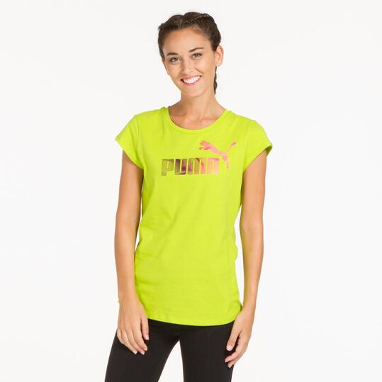PUMA ELEMENTAL Camiseta Pistacho Mujer