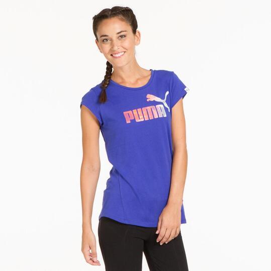 PUMA ELEMENTAL Camiseta Azul Mujer